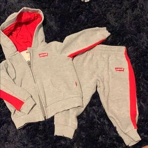 toddler boys levi hoodie and matching sweatpants